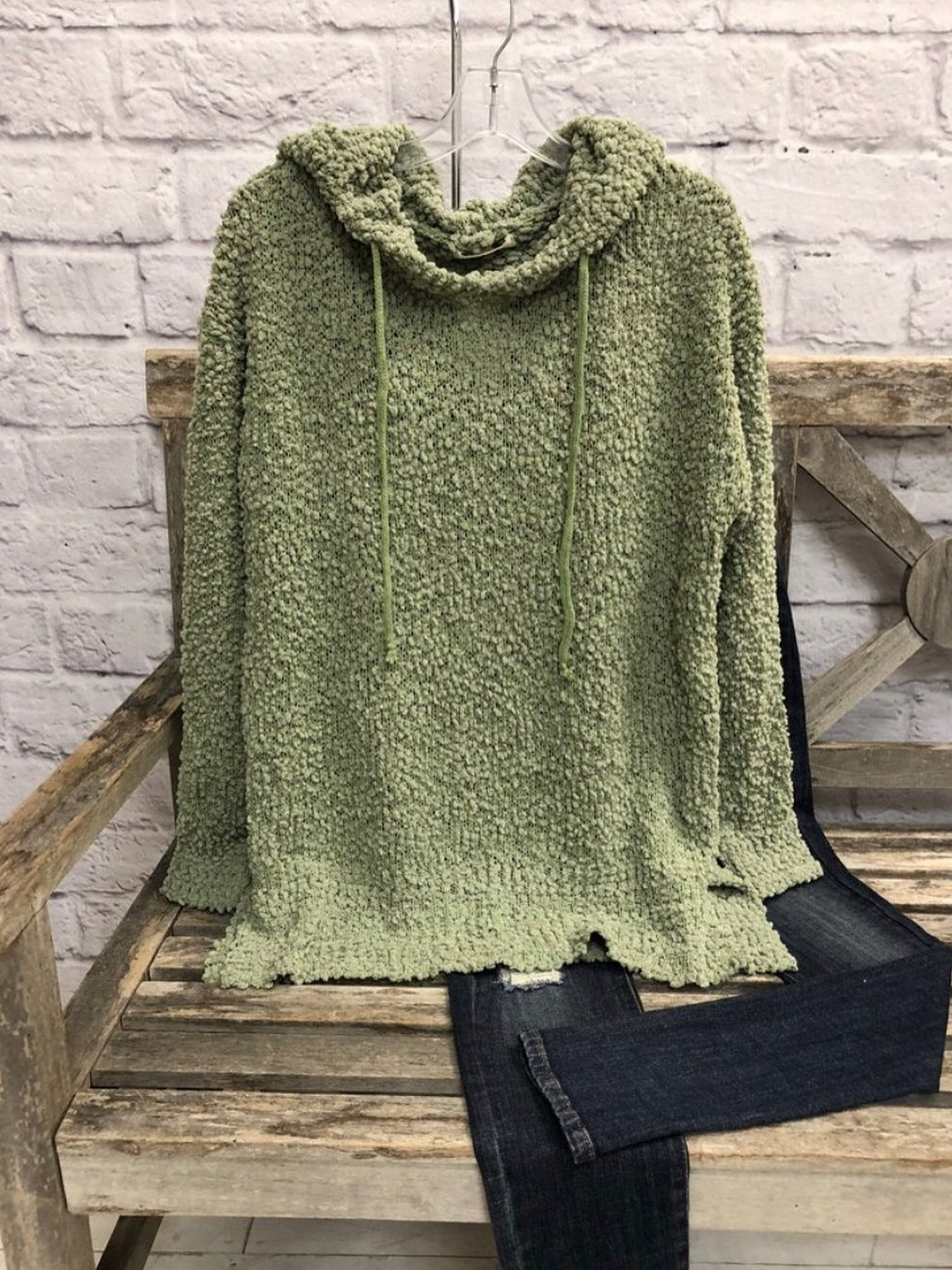 Clothing & Accessories Roselinlin Long Sleeve 1 Green Women Tops Cotton-Blend Hoodie Casual Tops
