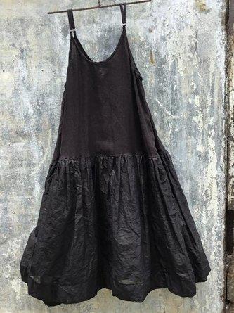 Solid Sleeveless Dresses