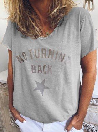 Printed Cotton-Blend Short Sleeve Shirts & Tops