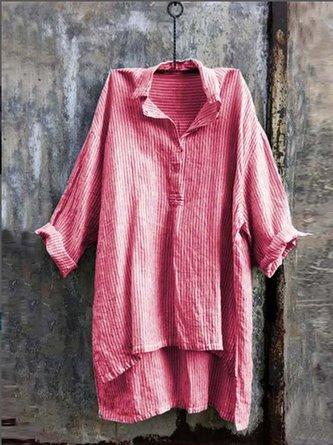 Half Sleeve Cotton-Blend Dresses