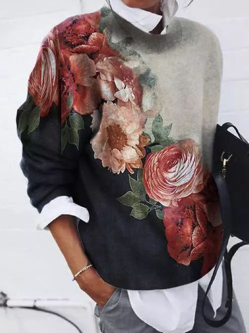 Floral Long Sleeve Shirts & T...