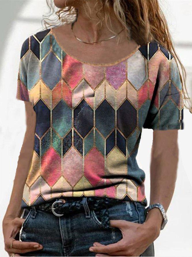 Geometric Short Sleeve Shirts...
