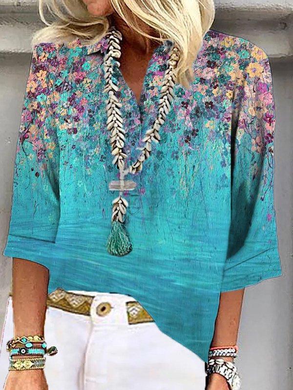 Floral Half Sleeve Shirts & T...