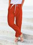 Cropped harem pants Solid Casual Pants
