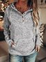 Casual Long Sleeve Cotton-Blend Hoodies