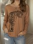 Casual Animal Tiger Pattern Long Sleeve Top