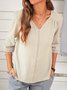 V Neck Half Sleeve Sweet Cotton Shirts & Tops
